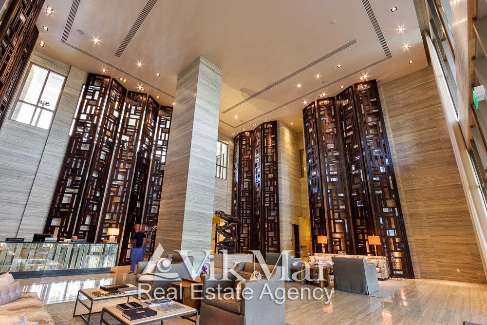 Перспектива зального пространства двухсветного вестибюля жилого комплекса «The St. Regis» в Майами Бич