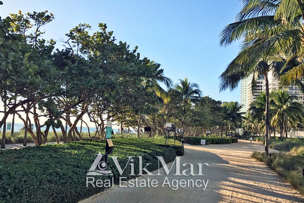 Park recreation area in Miami Beach