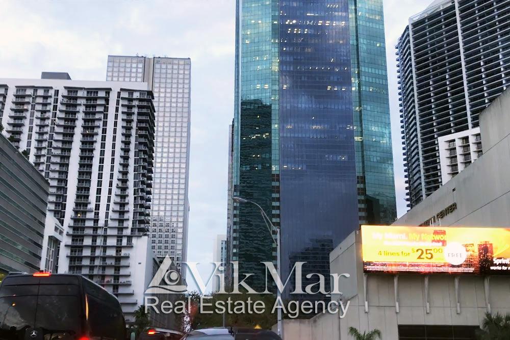 высотной застройки Центрального делового района Майами