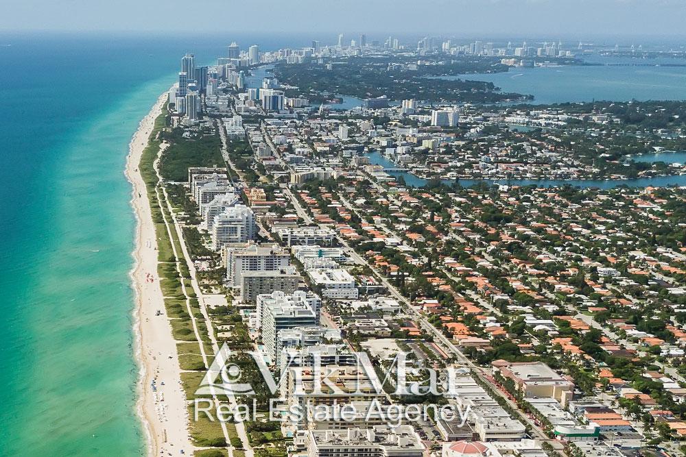 Панорама Коллинз Авеню в Майами Бич
