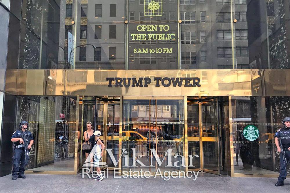 Главный вход «Трамп Тауэр Нью-Йорк»