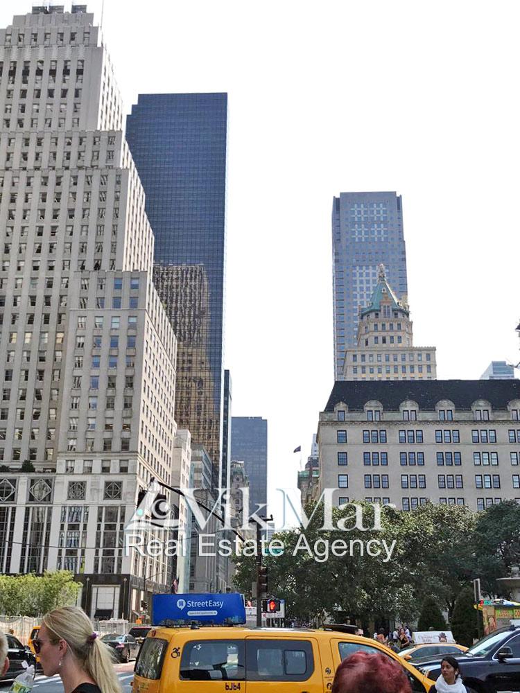 Вид на высотный комплекс «Башня Трампа» со стороны Централ Парка в Нью-Йорке