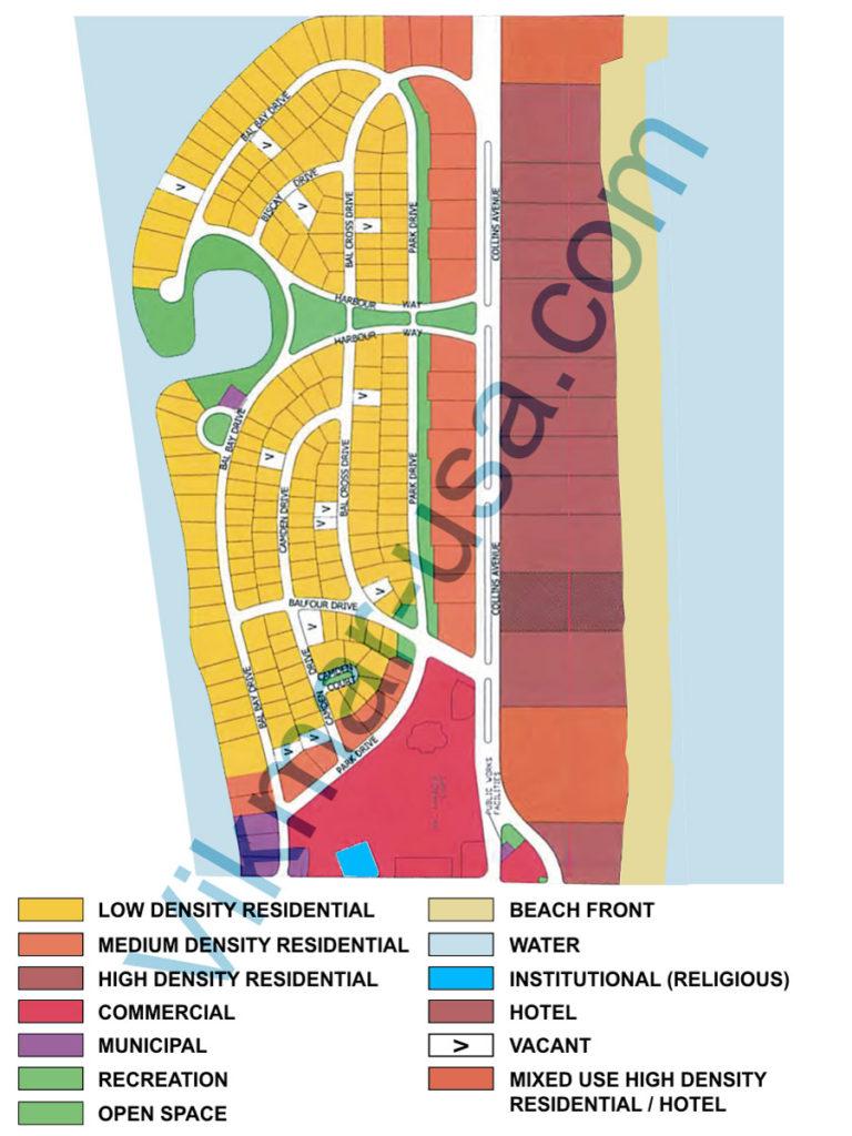 Пример карты территориального зонирования недвижимости